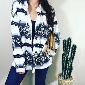 Vintage Aztec Sweater Cardigan